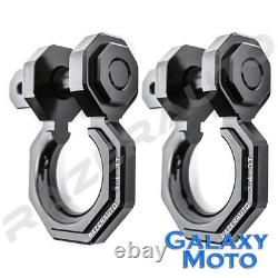 1 Set 3/4 Black 3.0 Ton Aluminum D-Ring Bow Anchor Shackle Heavy Duty Off road