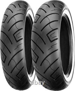 130/90B16 73H Front & 150/80B16 77H Rear 777 White Wall Reinforced Tires Set