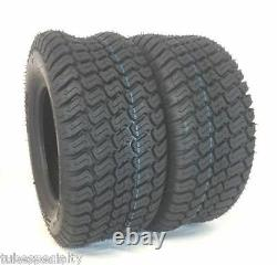2 18x6.50-8 Trac Gard Turf Master Lawn Mower Heavy Duty Two New Tires 18 650 8