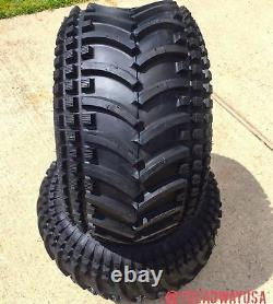 2 24x11.00-10 4 Ply ATV Wooly Booger Striker Tubeless Tires Heavy Duty
