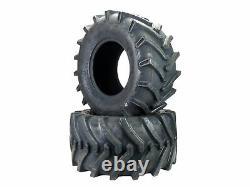 (2) 26X12.00-12 26x12-12 OTR Lawn Trac Bar Lug Tires 4 ply Rated Heavy Duty