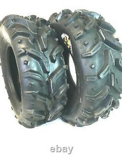 (2) 27X10-12 Mud Crusher ATV Tires 6Ply HEAVY DUTY pair of ATV TIRES 27X10.00-12