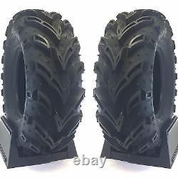 (2) 28X10-12 Mud Crusher ATV Tires 6Ply HEAVY DUTY pair of ATV TIRES 28X10.00-12