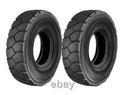 2 New 6.90-9 Deestone Forklift Tires Cat Hyster Fork Truck 6.00-9