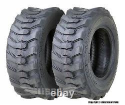2 SuperGuider Heavy Duty 12-16.5/12PR SKS1 Skid Steer Tire Bobcat withRim Guard