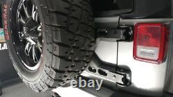 2007-2017 Jeep Wrangler JK Tailgate Mount Heavy Duty Oversized Tire Carrier 2843