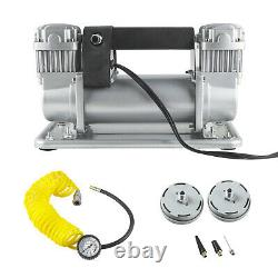 24V Heavy Duty 200PSI Car Truck Air Pump Tire Inflator Air Compressor Portable