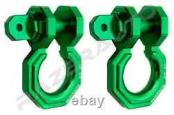 2pcs 3/4 Green 3.0 Ton Aluminum D-Ring Bow Anchor Shackle Heavy Duty Off road