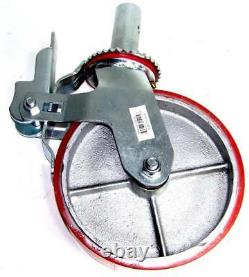 4 pcs H D Scaffold 8 X 2 Polyurethane Caster Wheel Scaffolding Tire Accesories