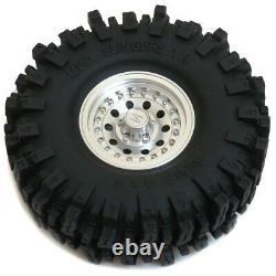 4pcs RC 1.9 Mud Slingers Crawler Tire 120mm & Alum 1.9 Heavy Duty Beadlock Wheel
