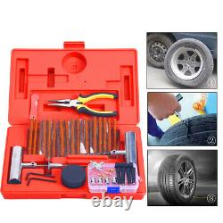 56pcs Heavy Duty Tire Repair Tools Kit for Auto Cars Flat Tire Puncture Repair