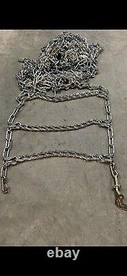 8MM Extra Thick Heavy Duty Tire Chains 33x12.50R17LT 33x12.50R18LT 55-2-4