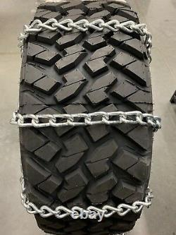 8MM Extra Thick Heavy Duty Tire Chains 33x12.50R20LT 33x12.50R22LT 55-2-4