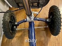 All Terrain Knee Walker Scooter by KneeRover, Steerable 12 Tires Midnight Blue
