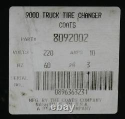 Coats HIT 9000 Heavy Duty Tire Machine Large Tires HIT9000 Changer 3 Phase