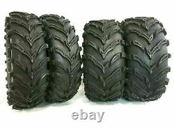 Four New K9 Mud 26x9-12 Front 26x11-12 Rear ATV Tires 6 Ply Rated Heavy Duty