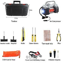 GSPSCN Portable Air Compressor Pump Dual Cylinder Heavy Duty Tire Inflator wi
