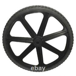 Genuine Rubbermaid M1564200 New Stronger 7 Spoke 20 Wheel With No-Flat Tire