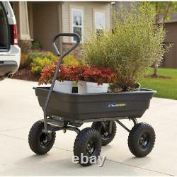 Gorilla Carts 600-lb Poly Garden Dump Cart with 10 Tires Gardening Spring