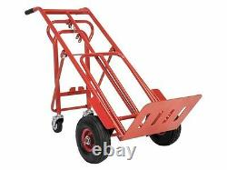 HEAVY DUTY Sack Truck 3 in 1 HORIZONTAL + Trolley Pnuematic Air Tyres + 250Kg
