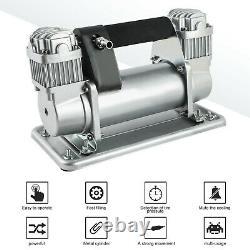 Heavy Duty 12V 200PSI Tire Inflator Pump Portable Car Tyre Auto Air Compressor