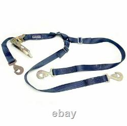 Heavy Duty 3 Point Tire Style Ratchet Strap/Tie Down 2 X 9' 10,000 Lbs Rating