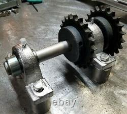 Heavy Duty Motorcycle Jackshaft Kit Any Width Tire, Incl. Chains + Sprockets