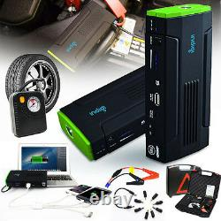 Heavy Duty Portable Battery Power Bank Jump Starter with Tire Compressor 12800mAh