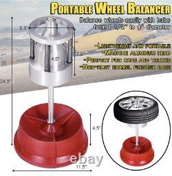 Heavy Duty Portable Hub Wheel Tire Balancer With Bubble Level Balancing Machine
