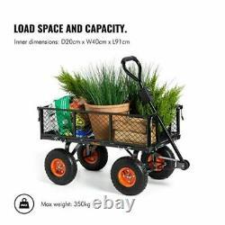 Heavy-Duty Steel Frame All Terrain With off-road tyres Garden Trolley Wheelbarrow