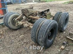 Heavy Duty Tandem Axle Bogy Unit From Step Frame Trailer With 8.25 R 15 Tyres