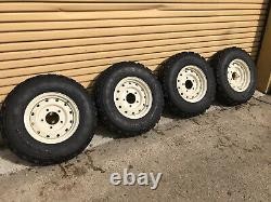 Land Rover Defender Heavy Duty Steel Wolf Wheels With Goodyear G90 7.50 16 Tyres