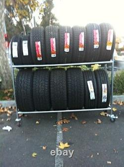 Mobile 2 Tier Tire Rack Heavy Duty with Locking Casters