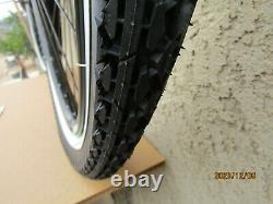 New 26'' X 2.125 Heavy Duty Black Bicycle Rim Set, Tires & Tubes For Cruiser