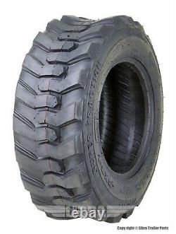 One SupeGuider Heavy Duty 10-16.5/10PR SKS-1 Skid Steer Tire Bobcat withRim Guard