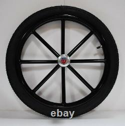 Pair Horse Cart Motorcycle Tire and Rim 2.50-18, 5/8 or 3/4 Axle NIB