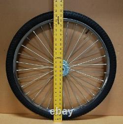 Pair Horse Cart Wheels/Tires 26x2.125-5/8Axle, 4 3/4 Hubs