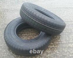 Pair of 145x10 8 Ply Radial Wanda 84N Heavy Duty Trailer Tyres