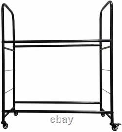 Rolling Tire Storage Rack With cover Holds 8 Metal Heavy Duty Garage Organizer
