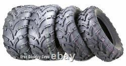 Set 4 WANDA ATV UTV Tires 25x10-12 Front 25x11-12 Rear Mud High Load Heavy Duty
