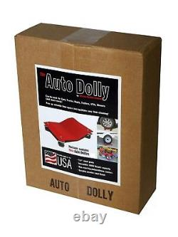 Set of 2 Auto Dolly Heavy Duty 16x16 Vehicle Wheel Tire Car Body Shop Mechanic