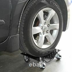 Set of 4 Heavy Duty Tire Wheel Dolly Dollies Vehicle Moving Dolly 680KG/ Dolly