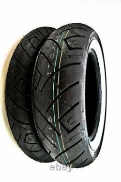 Shinko 777 Heavy Duty Whitewall Front & Rear Tire Set 100/90-19 & 150/90-15