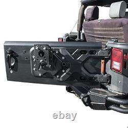 Smittybilt SRC HD Pivot Oversize Tire Carrier fits 07-18 Jeep Wrangler JK 2843