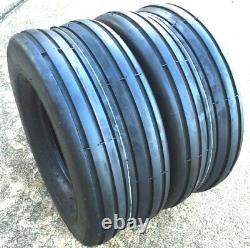 TWO 16x6.50-8, 16x6.50x8 SMOOTH RIB HEAVY DUTY Lawnmower Rib Tread Tires