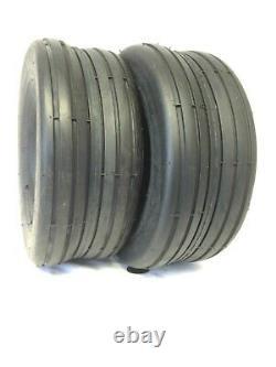 TWO 16x6.50-8, 16x6.50x8 SMOOTH RIB HEAVY DUTY Lawnmower Rib Tread Tires HD