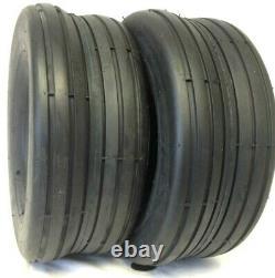 TWO 18x8.50-8, 18-8.50x8 HEAVY DUTY RIB Lawnmower Tread 4 ply Tires