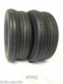 TWO 18x8.50-8, 18x8.50x8 SMOOTH HEAVY DUTY Lawnmower Rib Tread Tires