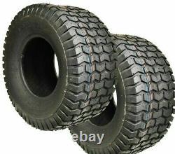 TWO 20X8.00-8 20X8-8 20X8X8 4PR Tire Heavy Duty for Riding Lawn Mower Turf Saver