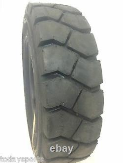 TWO new 5.00-8 500-8 FORKLIFT TIRE With Tubes, Flap Grip Plus Heavy duty
